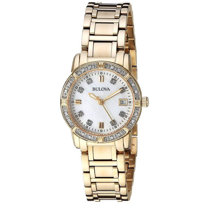 Bulova Highbridge Diamond Stainless Steel Casual Women's Watch 98R135