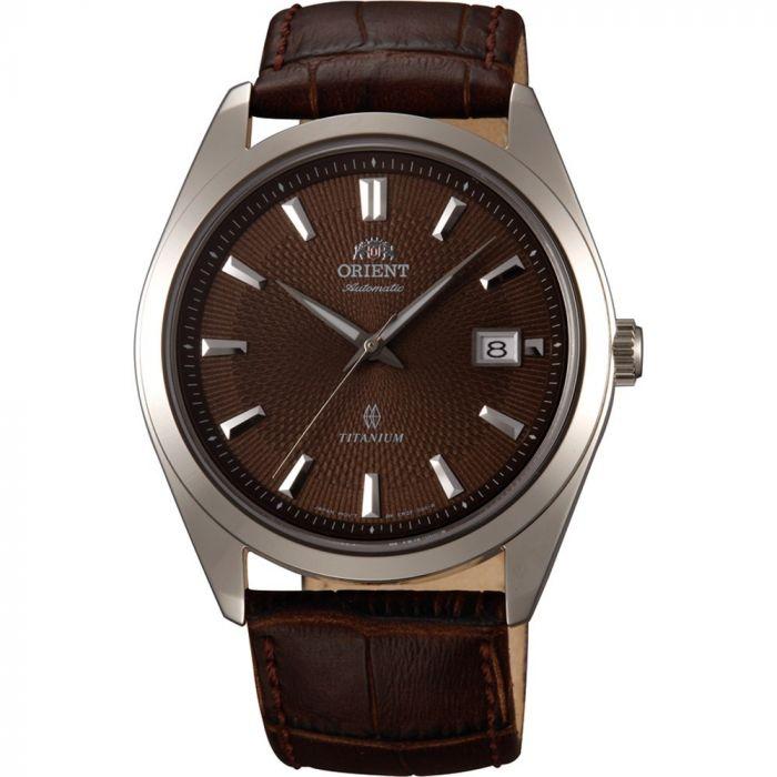 Orient Titanium Automatic Sapphire Crystal Brown Men's Watch FER2F004T0