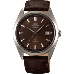 Orient Titanium Automatic Sapphire Crystal Brown Men's Watch FER2F004T0
