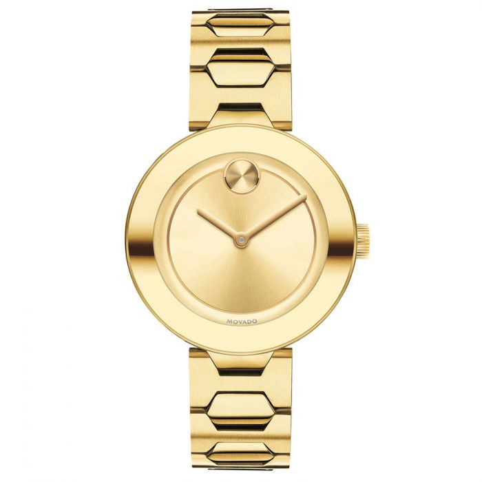 Movado Bold Yellow Gold Tone Plated Women's Watch 3600382