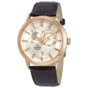 Orient Multi-Eyes Sun and Moon Gen 1 Automatic Brown Leather Men's Watch ET0P001W