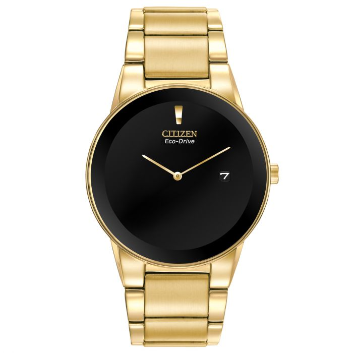Citizen Axiom Black Dial Gold Tone Men's Watch AU1062-56E
