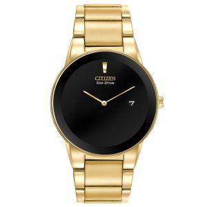 Citizen Axiom Black Dial Gold Tone Men's Watch AU1062-56E
