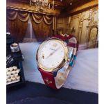 Versace Audrey Mặt Tròn Màu Trắng Dây Da Màu Đỏ VELR00219