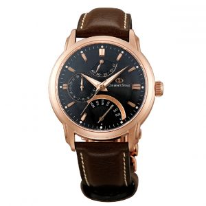Orient Star Retrograde Brown Leather Men's Watch SDE00003B0