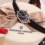 Frederique Constant Art Deco Mặt Bầu Dục Dây Da Màu Đen FC-200MPB2V6