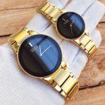 Citizen Axiom Black Dial Yellow Gold Tone Women's Watch GA1052-55E