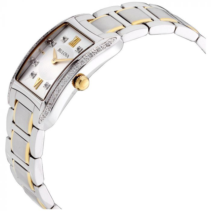 Bulova Diamond Accent Two Tone Casual Women's Watch 98R227