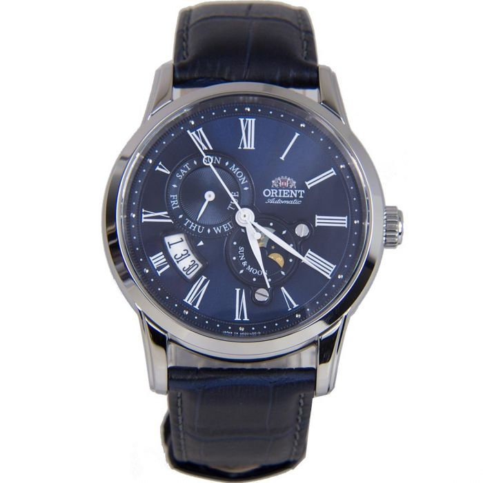 Orient Sun and Moon Gen 3 Automatic Blue Leather Men's Watch AK00005D
