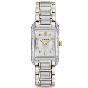 Bulova Diamond Accent Two Tone Casual Women's Watch 98R227
