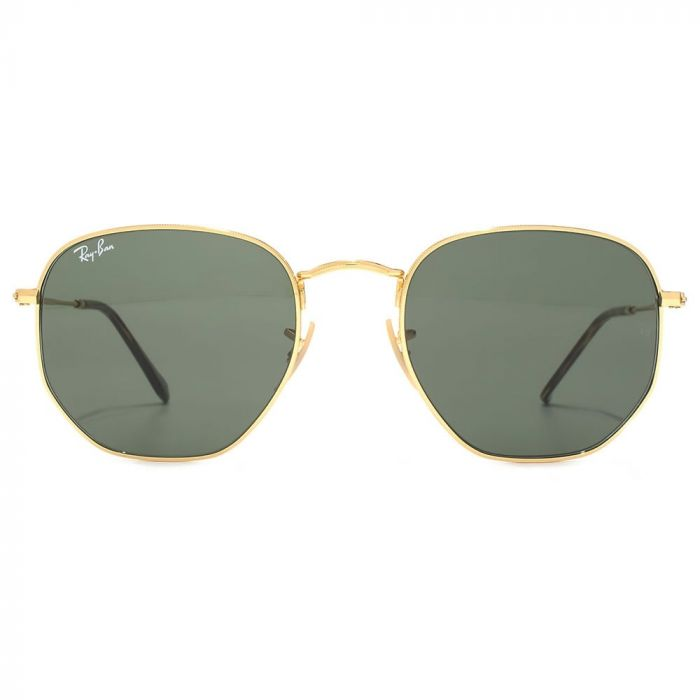 Ray-ban Hexagonal Flat Lenses Green Classic G-15 Sunglasses RB3548N 001 54