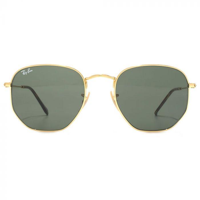 Ray-ban Hexagonal Flat Lenses Green Classic G-15 Sunglasses RB3548N 001 54