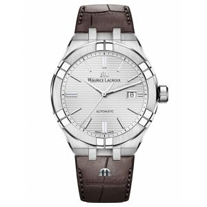 Maurice Lacroix Aikon Brown Leather Date Men's Watch AI6008-SS001-130-1