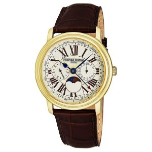 Frederique Constant Multi Function Moon Phase Brown Leather Men's Watch FC-270EM4P5