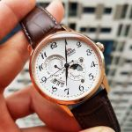 Orient Sun and Moon Automatic Brown Leather Men's Watch RA-AK0001S