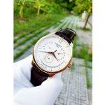 Tissot Tradition Perpetual Calendar Mặt Tròn Màu Trắng Viền Vàng Hồng Dây Da Màu Nâu T063.637.36.037.00