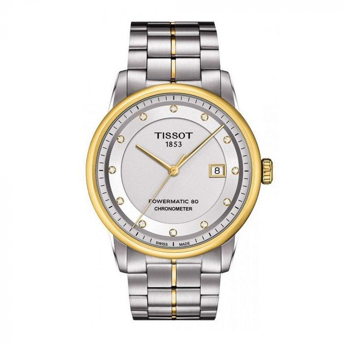 Tissot Luxury Automatic Diamond Silver Dial Two-Tone Men's Watch T086.408.22.036.00