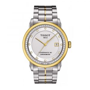 Tissot Luxury Automatic Diamond Silver Dial Two-Tone Men's Watch T086.408.22.036.00