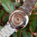 Hamilton Jazzmaster Viewmatic Automatic Mặt Tròn Màu Trắng Dây Kim Loại Màu Bạc Pha Vàng Hồng H32655191