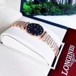 Longines La Grande Classique Diamond Demi Vàng Hồng Mặt Tròn Dây Kim Loại L4.209.1.57.7
