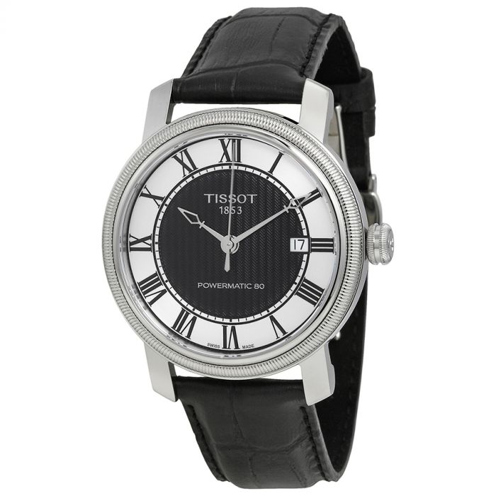 Tissot Bridgeport Automatic Powermatic 80 Black Leather Men's Watch T097.407.16.053.00