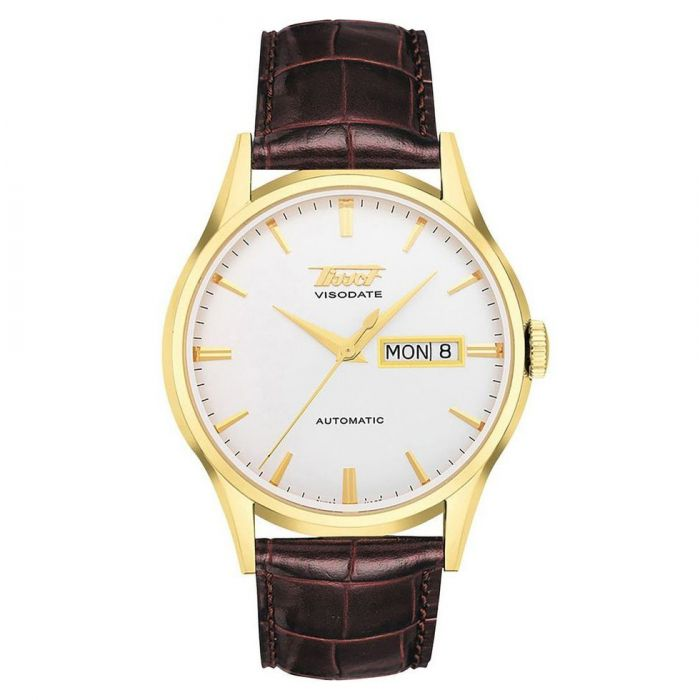 Tissot Heritage Visodate Automatic Brown Band White Dial Men's Watch T019.430.36.031.01