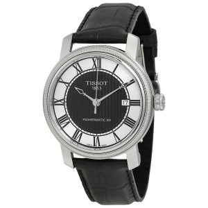 Tissot Bridgeport Automatic Powermatic 80 Black Leather Men's Watch T097.407.16.053.00