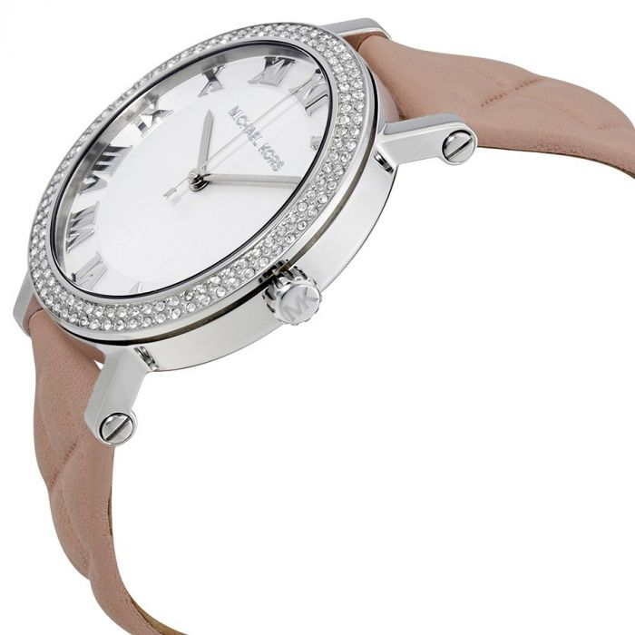 Michael Kors Norie Blush Quilted Leather Women's Watch MK2617