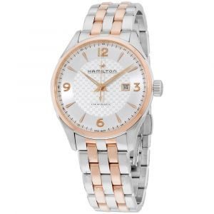 Hamilton Jazzmaster Viewmatic Silver Dial Stainless Steel Two Tone Automatic Men's Watch H42725151