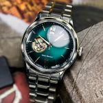 Orient Classic Bambino Automatic Open Heart Green Men's Watch RA-AG0026E