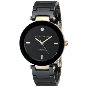 Anne Klein Black Dial Ceramic Women's Watch AK/1018BKBK