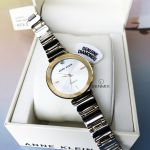 Anne Klein Diamond Dial Demi Gold Tone Polished Bracelet Women's Watch AK/2435SVTT