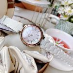 Frederique Constant Silver Mother of Pearl Dial Silicone Strap Horological Smartwatch FC-281WH3ER2