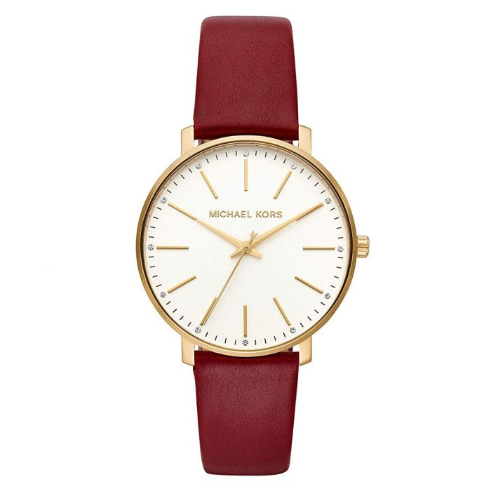 Michael Kors Pyper Merlot Leather Women's Watch MK2749