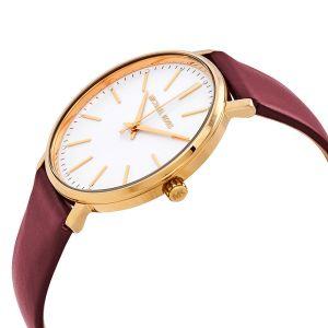Michael Kors Pyper Merlot Leather Women's Watch MK2749