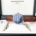 Frederique Constant Classics Mặt Tròn Màu Xanh Dây Da Màu Nâu Lịch Ngày Thứ FC-259NT5B6