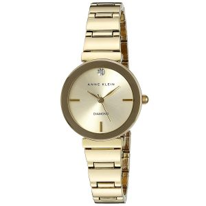 Anne Klein Champagne Gold Metal Bracelet Women's Watch 2434CHGB