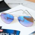 Ray-ban Blue Gradient Flash Sunglasses RB3025 019/8B 58-14
