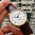 Frederique Constant Slim Line Guilloche Brown Leather Men's Watch FC-245AS4S5