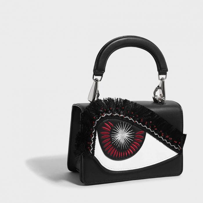 Charles & Keith Embellished Eye Detail Cross Body Women's Bag CK2-80700746