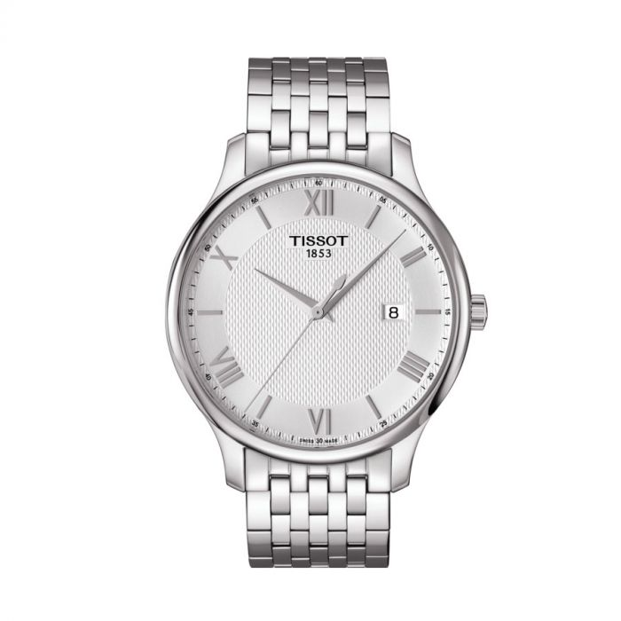 Tissot Tradition Silver Stainless Steel Date Men's Watch T063.610.11.038.00