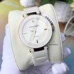 Anne Klein White Ceramic Quartz Accented Women's Watch 1018RGWT