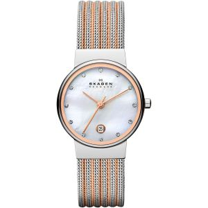 Skagen Ancher Mother of Pearl Mesh Women's Watch 355SSRS