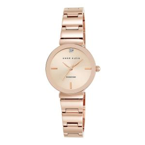 Anne Klein Diamond Dial Rose Gold Polished Women's Watch 2434RGRG