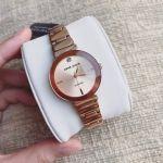 Anne Klein Diamond Dial Rose Gold Polished Women's Watch 2434RGRG