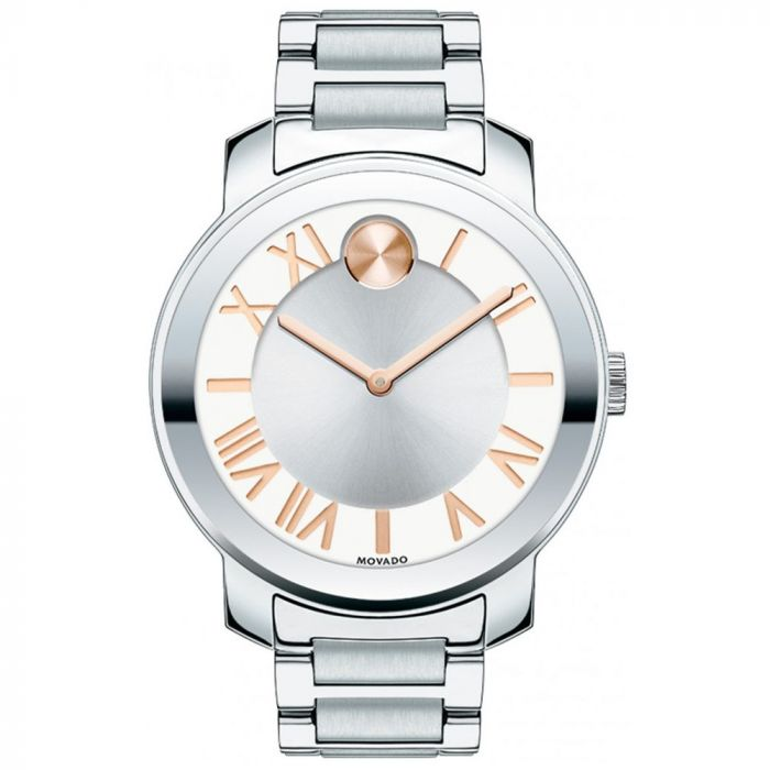 Movado Bold Silver Dial Stainless Steel Women's Watch 3600196