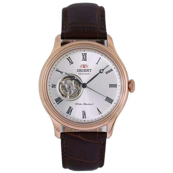 Orient Caballero Open Heart Automatic Brown Leather Men's Watch FAG00001S0