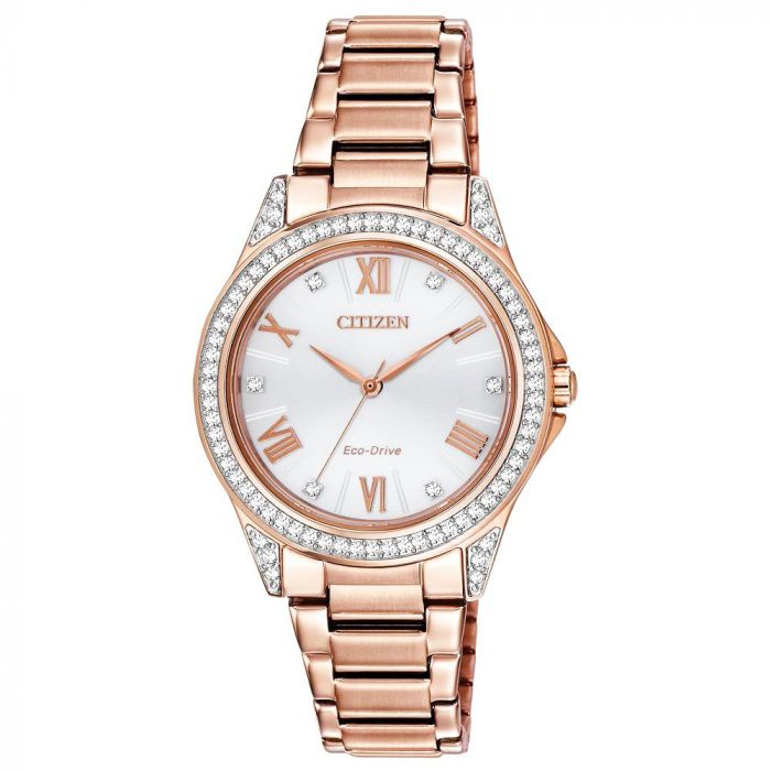 Citizen Eco-Drive POV Rose Gold Women's Watch EM0233-51A