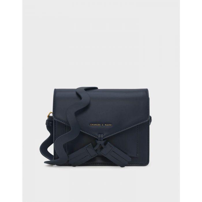 Charles & Keith Tassel Crossbody Navy Women's Bag CK2-80780553