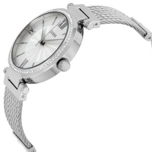 Guess Sophisticated Modern Woven Silver-Tone Women's Watch U0638L1